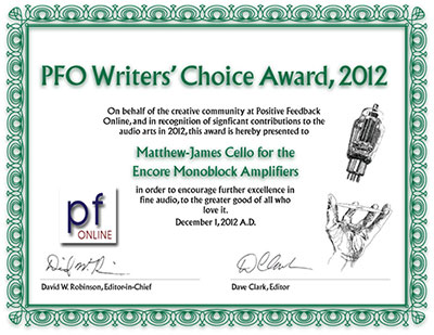 2012 PFO Writers' Choice Award